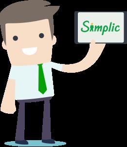 Ilustração crédito online Simplic