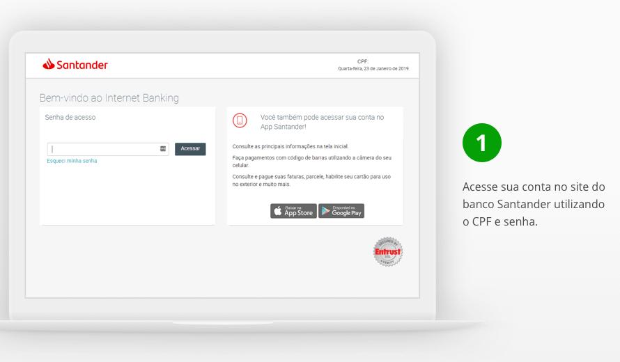 Acessar conta Santander pelo Internet Banking