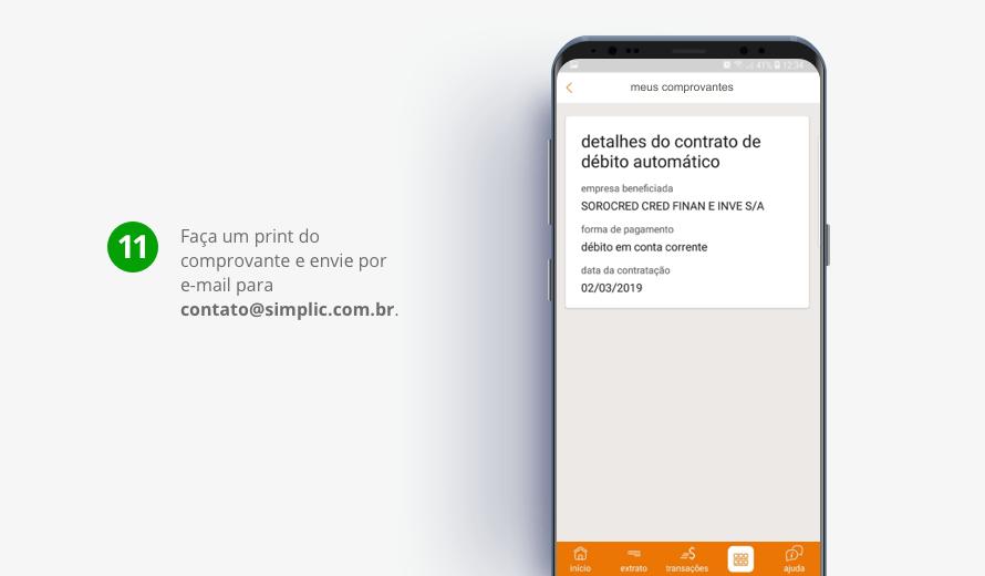 Faça um print do comprovante e envie por e-mail para contato@simplic.com.br.